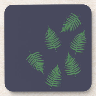 Green Fern Lucky Set of Coasters