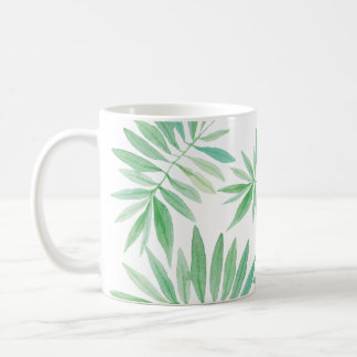 Green fern palm storm coffee mug