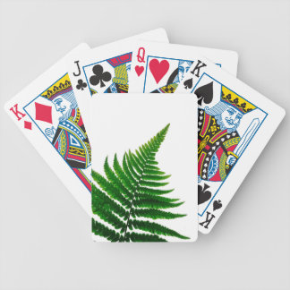 Green Fern prints Woodlands Leaf Bicycle Playing Cards