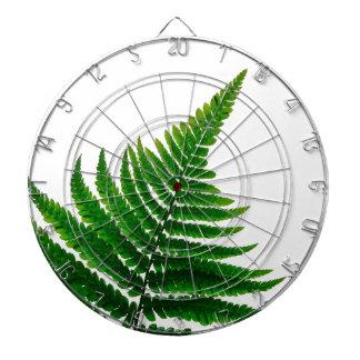 Green Fern prints Woodlands Leaf Dartboard