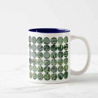 Green Fern Two-Tone Coffee Mug