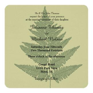 Green Fern Wedding Card