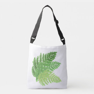 Green Ferns Crossbody Bag