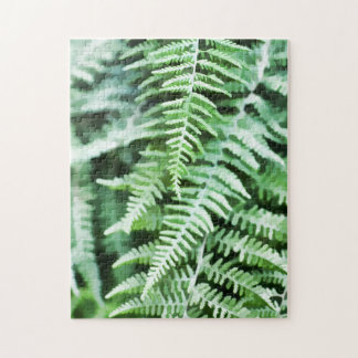 Green Ferns Illustration Puzzle