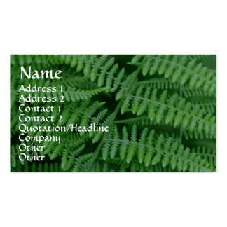 Green Ferns Nature Photography Business Card