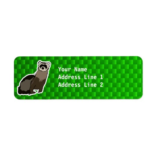 Green Ferret Return Address Label