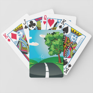 Green Field and City Bicycle Playing Cards