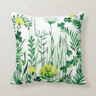 Green field cushion
