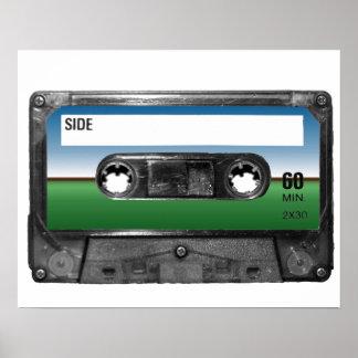Green Field Horizon Cassette Posters