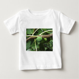 Green figs ripening on a fig tree baby T-Shirt
