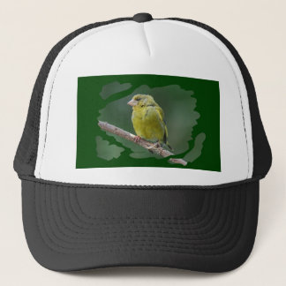 Green Finch - green finch - Verdier photo JL Trucker Hat