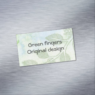 Green fingers business card magnetic business cards