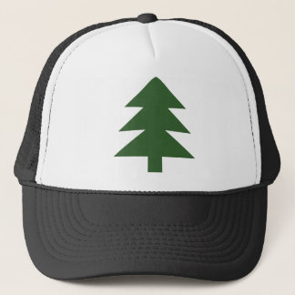 green fir tree trucker hat