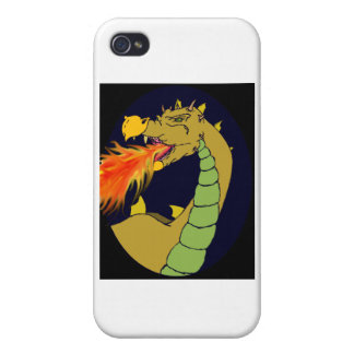 Green Fire Breathing Dragon iPhone 4/4S Case