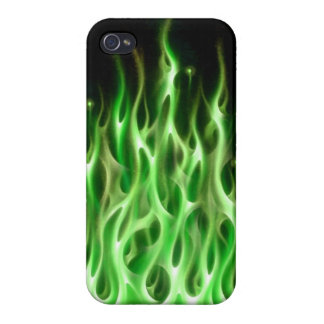 green fire phone case iPhone 4 covers