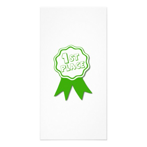 Green First Place Ribbon Photo Cards