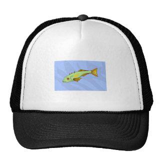 Green Fish In Water Trucker Hats