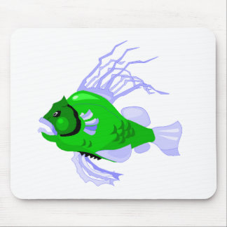 Green Fish Mouse Pad