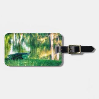 Green Fishing Boat Luggage Tag