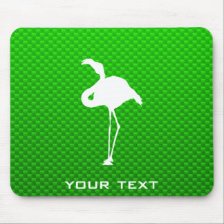 Green Flamingo Mouse Pads