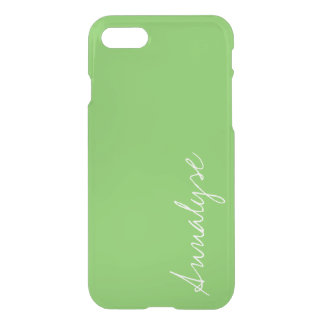Green Flash Bright Vivid Solid Color Custom iPhone 7 Case