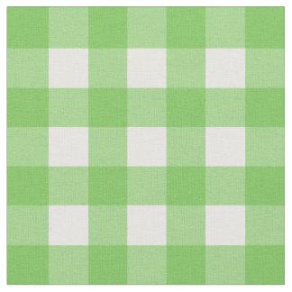 Green Flash & White Gingham Check Fabric