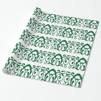 """Green Fleur Batik  Wrapping Paper, 30"""" x 6'"""