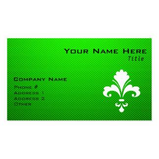 Green Fleur de lis Business Card Templates