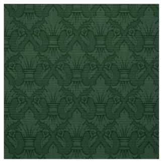 Green Fleur-de-lis Pattern Fabric
