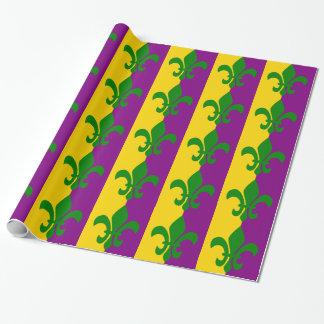 Green Fleur de Lis Wrapping Paper