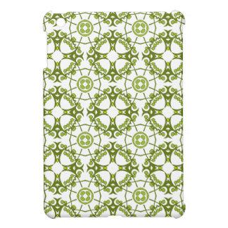 Green floral batik style design cover for the iPad mini