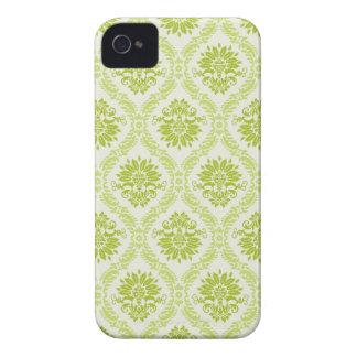 Green Floral Damask Blackberry Case