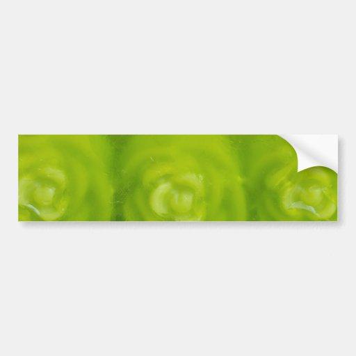 green floral decoration bumper sticker