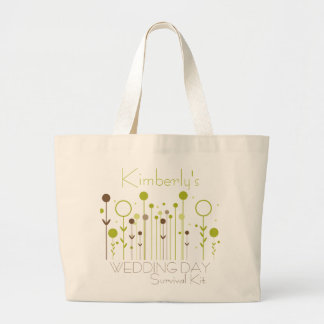 Green Floral Dot Wedding Day Survival Kit Bag