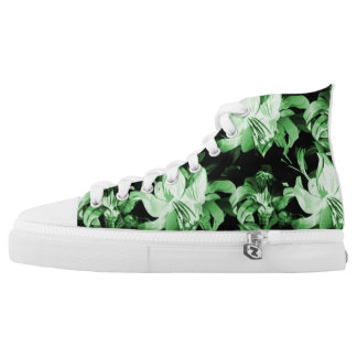 Green Floral High Tops