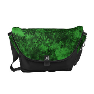 Green Floral Courier Bags