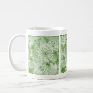 Green floral mugs