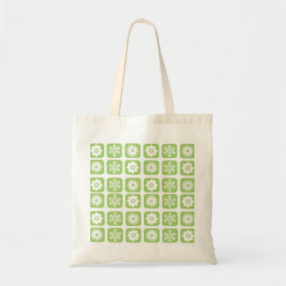 Green Floral Pattern Tote Bag