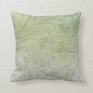 Green Floral Swirl Cushion