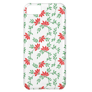 Green Floral Vines Pattern iPhone 5C Case