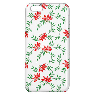 Green Floral Vines Pattern iPhone 5C Cases