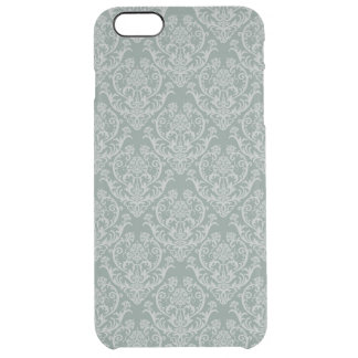 Green floral wallpaper clear iPhone 6 plus case
