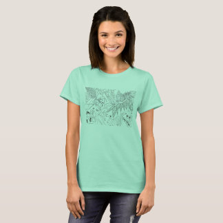 Green Florals T-Shirt