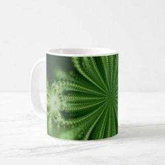 Green Flower Fractal Mug