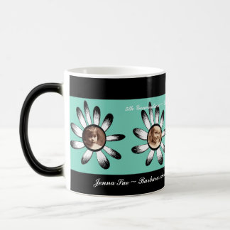 Green Flower Frames Coffee Mugs