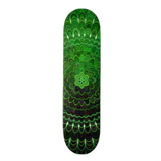 Green Flower Mandala 19.7 Cm Skateboard Deck
