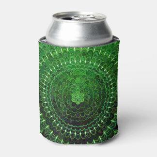Green Flower Mandala Can Cooler