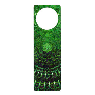 Green Flower Mandala Door Hanger