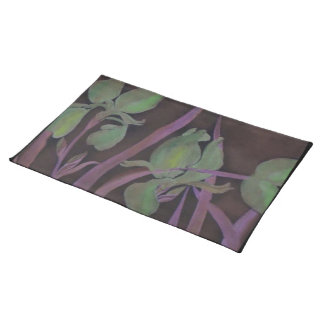 Green Flower Night American Mojo Custom Placemats