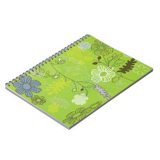 green-flower notebook